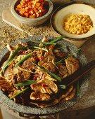 Moo Tod Katiem Prik (fried pork, Thailand)