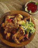 Peag Gai Sord Sai (stuffed chicken wings, Thailand)