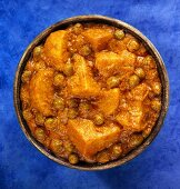 Indian potato and pea curry