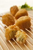 Deep-fried cheese and herb balls