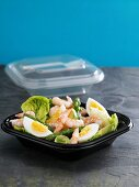 Prawn, asparagus and egg salad to take away
