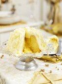 Lemon cake with white chocolate for Christmas