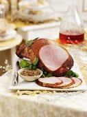 Ham and mustard for Christmas dinner