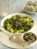 Steamed savoy cabbage