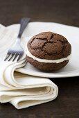 Chocolate Whoopie Pies with vanilla cream cheese