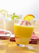Flipper (orange juice and vanilla ice cream) and Sgroppino (lemon sorbet with Prosecco)