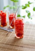 Strawberry granitas
