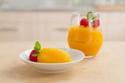 Passion fruit sorbet