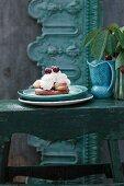 Saint Honoré cherry tart with cream