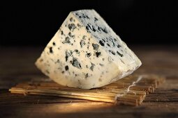 A piece of blue cheese