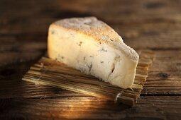 A piece of Gorgonzola