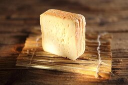 A slice of Herve, Belgium soft cheese