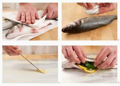Steps for making sea bass