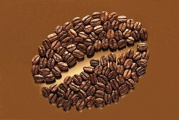 Coffee beans in the shape of a coffee bean