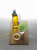 Olive oil with curry powder and rosemary for curry oil
