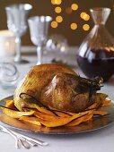 Roast turkey with vanilla