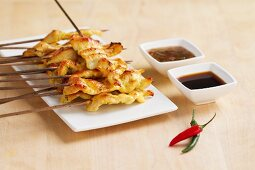 Chicken Satay with dips