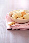 Macarons de Nancy in a dish