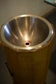 Metal bowl for wine tasting (Chateau Lynch-Bages Winery, France)