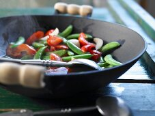 Wok-steamed vegetables