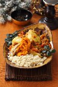 African-style chicken with rice (Christmas)