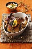 Szechuan-style spicy roast chicken (Christmas)