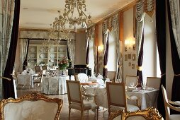 The restaurant in the luxury hotel Chateau Mcely (Czech Republic)