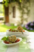 Frittelle di pesce al pomodoro (fishcakes with tomatoes)