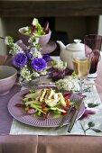 Tea smoked chicken salad