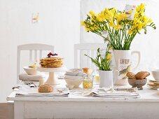 A spring breakfast buffet