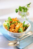 Bean curry with carrots and lentils
