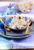 Sauerkraut salad with celeriac