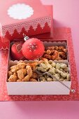 Nuts as a gift (Tandoori cashew nuts, wasabi nuts and chilli almonds)