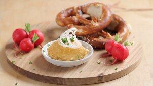 Obatzda cheese being prepared (German Voice Over)