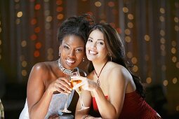 Women in Nightclub with Drinks