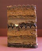 Ein Stück Schokoladentorte