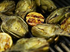 Artichokes and Lemons on the Grill