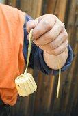 Wrapping Wine Cask Plug