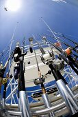 Deep Sea Fishing Rods on Boat