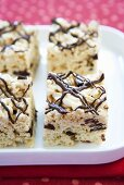 Rice Krispie Treats with Chocolate Drizzles