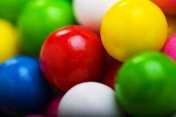 Colorful Gumballs; Close Up