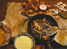 Blackened Fish and Shrimp in a Cast Iron Skillet
