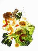 Ingredients for stir-fried vegetables
