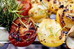 Barbecued vegetables with rosemary