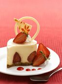 Layered strawberry confection