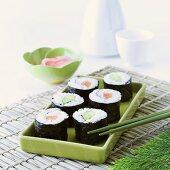 Assorted maki sushi (hoso maki)