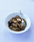 Braised lamb with olives