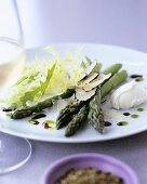 Green asparagus with truffle and mascarpone