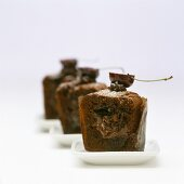 Chocolate muffin with Nutella filling