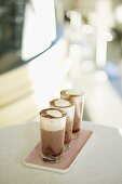 Hot chocolate with raspberry syrup